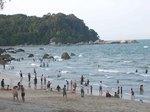 マレーシア、クアンタンの海水浴場