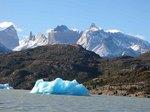 チリ、パイネ国立公園の氷河