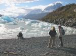 チリ、パイネ国立公園のグレイ湖